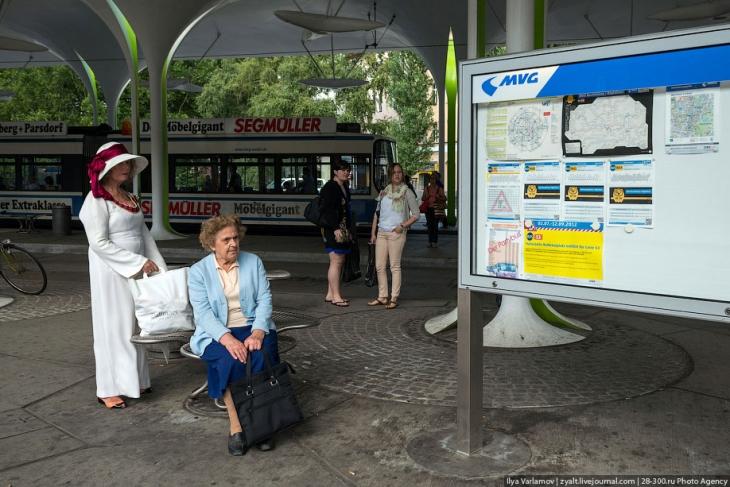 автобусе и трамвае.